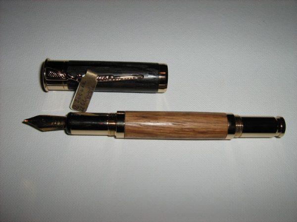 12 Gauge Shotgun Bocote and Bog Oak Fountain Pen