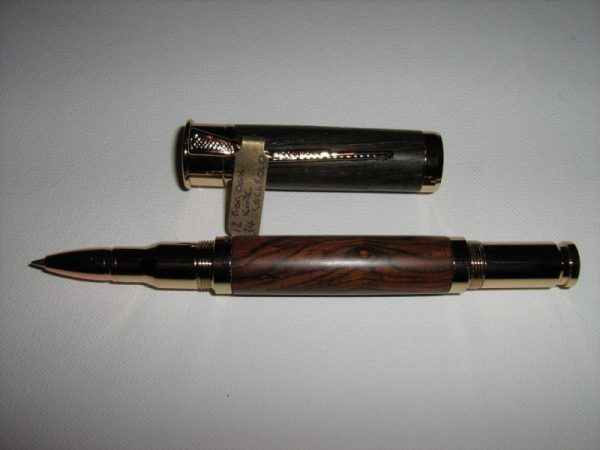 12 Gauge Shotgun King Cococbolo and Bog Oak Rollerball Pen