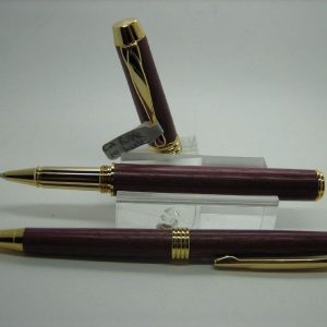 Purpleheart Executive Rollerball Pen and Pencil Set