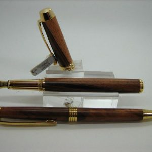 Tigerwood Executive Fountain Pen and Pencil Set