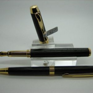 Bog Oak Executive Fountain Pen and Pencil Set
