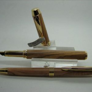 Olivewood Executive Fountain Pen and Pencil Set