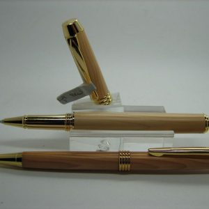 English Yew Executive Rollerball Pen and Pencil Set