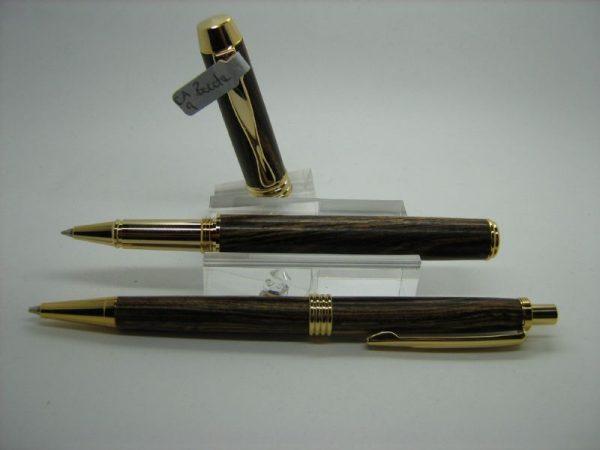 Bocote Executive Rollerball Pen and Pencil Set